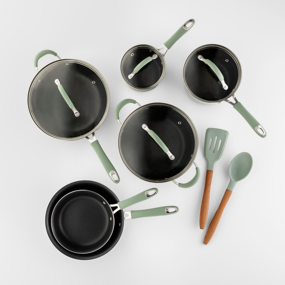 Image of Cravings by Chrissy Teigen 12pc Aluminum Cookware Set Green