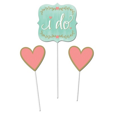 3ct Mint to Be Bridal Shower DIY Centerpiece Sticks