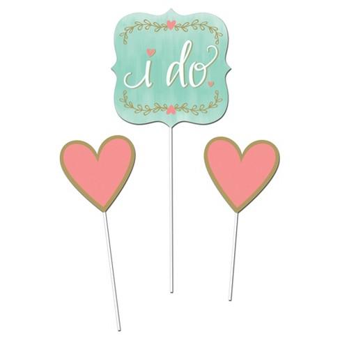 83dbe083edc 3ct Mint To Be Bridal Shower DIY Centerpiece Sticks   Target