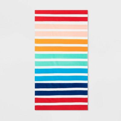 Printed Striped Beach Towel - Sun Squad™