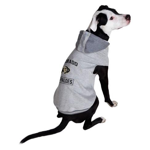 NCAA Little Earth Pet Hooded Crewneck Football Shirt - Colorado Buffaloes - image 1 of 3