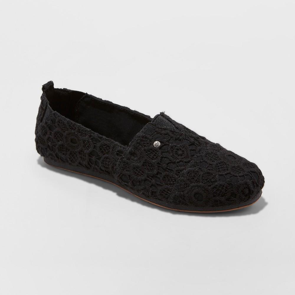 Women's Mad Love Lydia Slip on Crochet Sneakers - Vintage Black 9