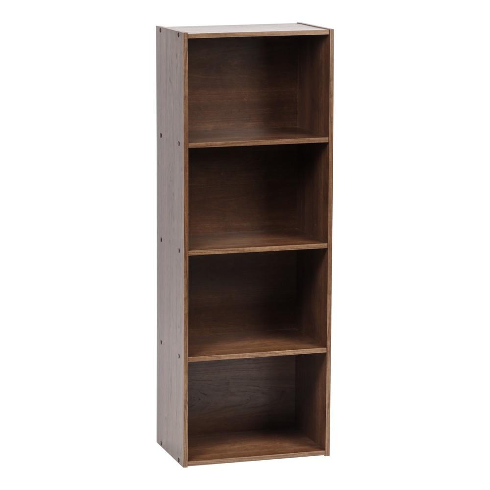Image of IRIS 4-Tier Storage Shelf, Brown