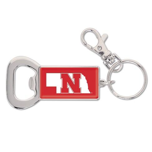 NCAA Nebraska Cornhuskers Lanyard Bottle Opener Keychain - image 1 of 1