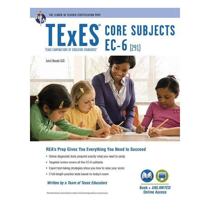 TExES Core Subjects Ec-6 (291) Book + Online - (Texes Teacher Certification Test Prep) 3 Edition - image 1 of 1