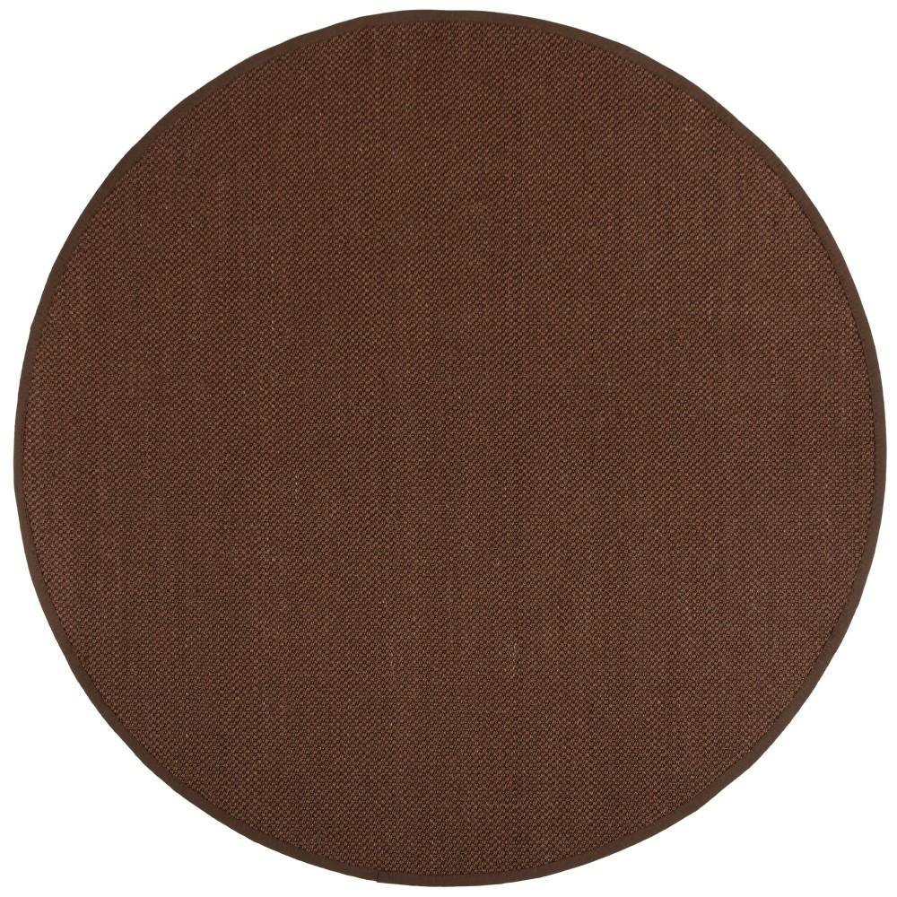 6' Solid Loomed Round Area Rug Chocolate/Dark Brown - Safavieh