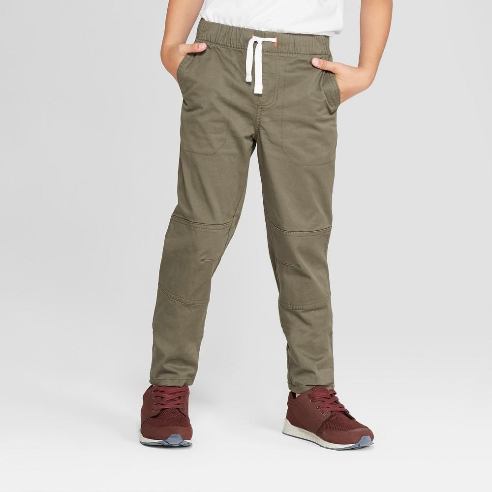 Boys' Pull-On Pants - Cat & Jack Green 16 Husky
