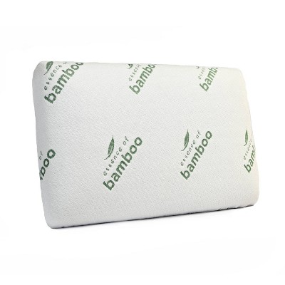 Essence of Bamboo Standard Rayon Infused Classic Memory Foam Pillow White