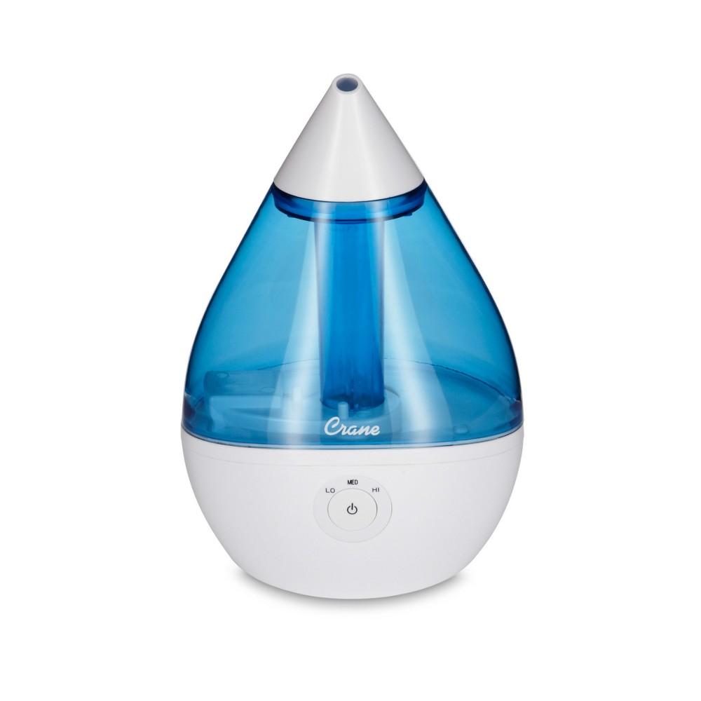 Crane Droplet Ultrasonic Cool Mist Humidifier, Blue Brilliance
