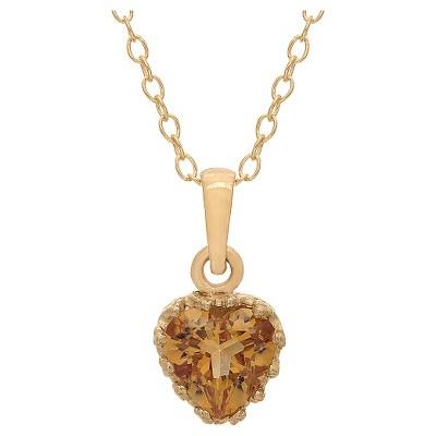 Tiara Gold Over Silver Heart-cut Birthstone Crown Pendant