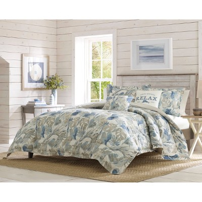 5pc Floreanna Comforter & Sham Set Bright Blue - Tommy Bahama