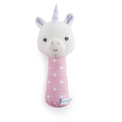 Ingenuity Premium Soft Plush Handheld Rattle - Shimmy the Unicorn