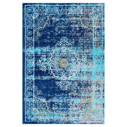 Blue Solid Loomed Area Rug - (4'x6') - nuLOOM - image 1 of 4