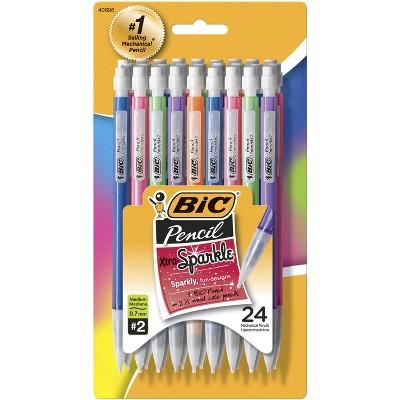 BIC Xtra Sparkle Mechanical Pencil, 0.7 mm, Sparkle Color Barrels, pk of 24