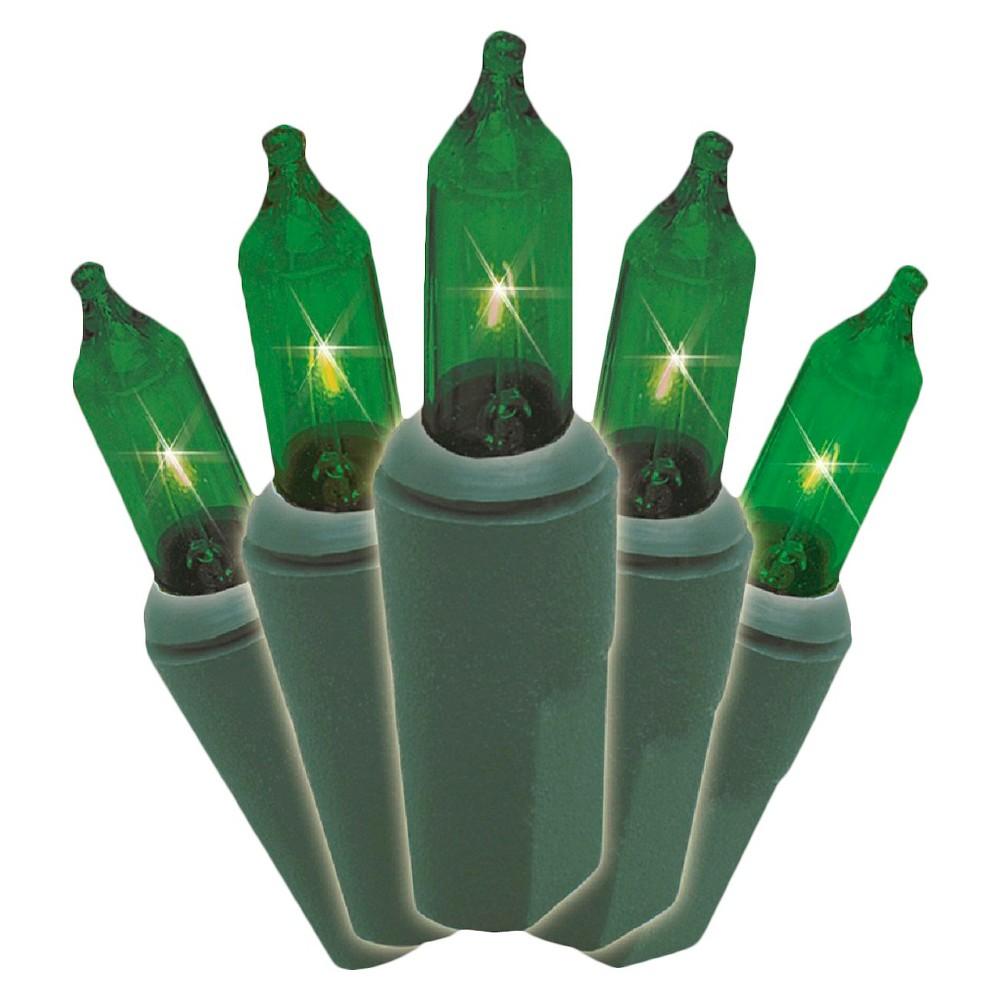 Image of 20.6' 100ct Green Mini String Lights