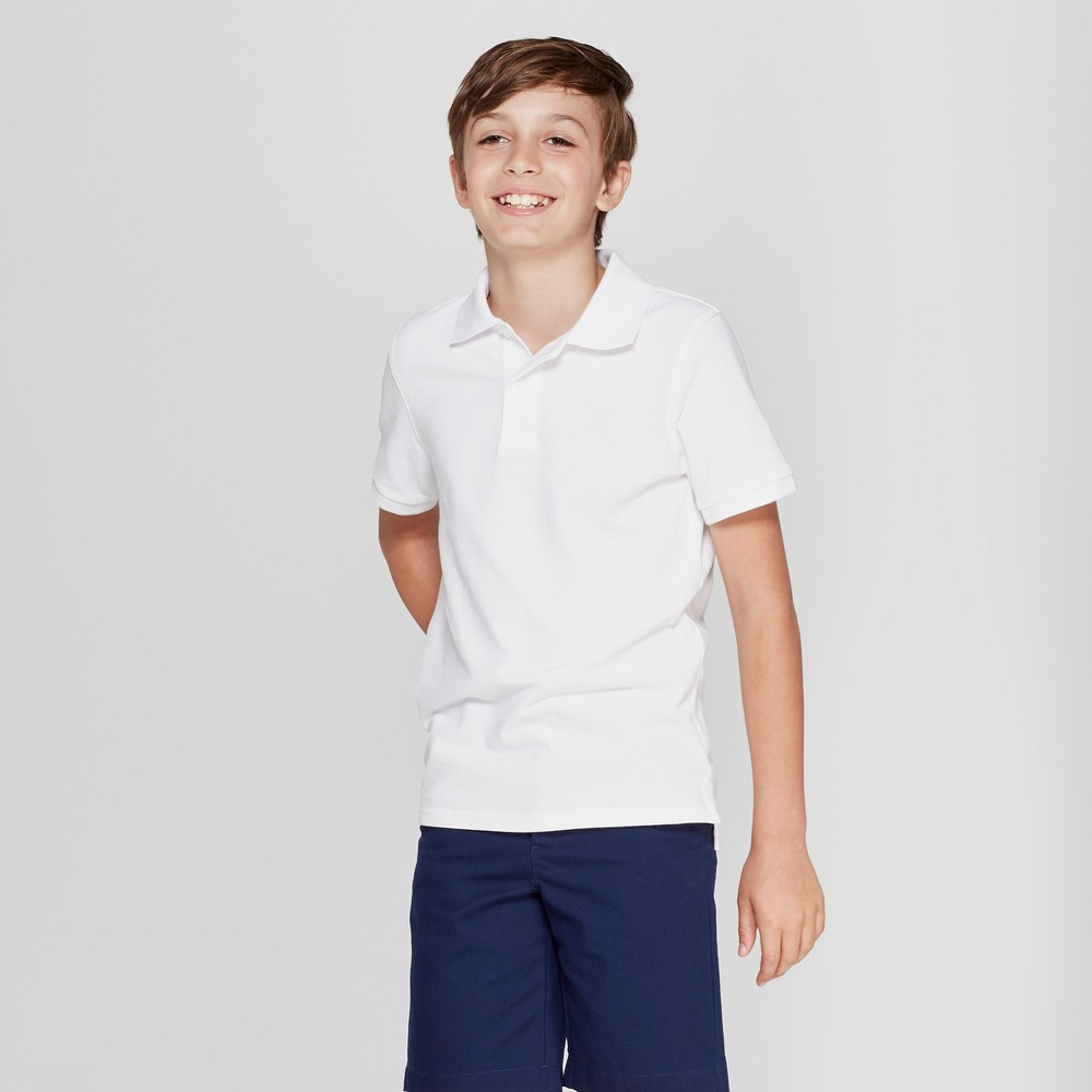 Boys' Short Sleeve Pique Uniform Polo Shirt - Cat & Jack White XS