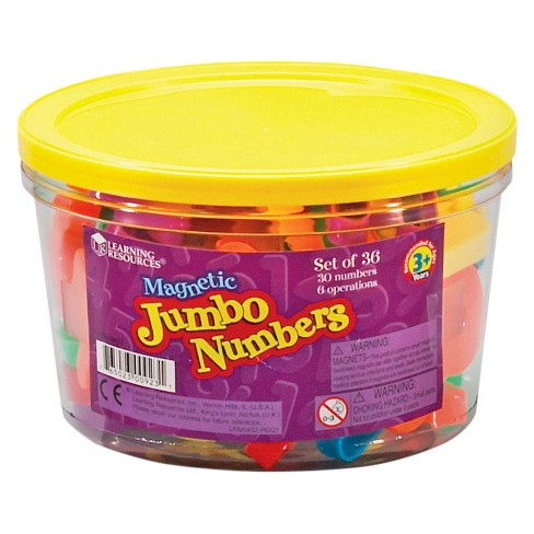 Learning Resources Jumbo Magnetic Numbers & Operations - image 1 of 1