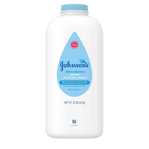 Johnsons Baby Powder with Aloe & Vitamin E Pure Cornstarch - 22oz - image 1 of 4