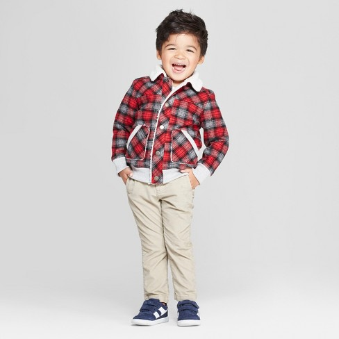 2b37f4856 Genuine Kids® From OshKosh Toddler Boys  Sherpa Trucker Track Jacket ...