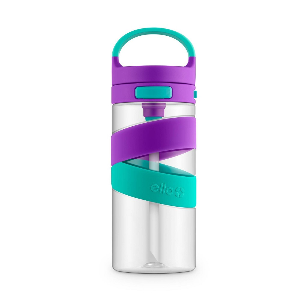 Image of 18oz Plastic Harlow Tritan Water Bottle Purple/Teal - Ello, Purple/Blue