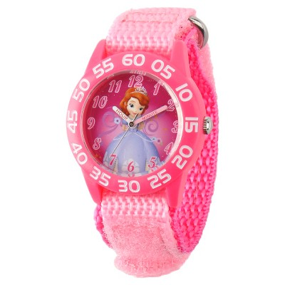 Girls' Disney Sofia the First Plastic Watch- Pink
