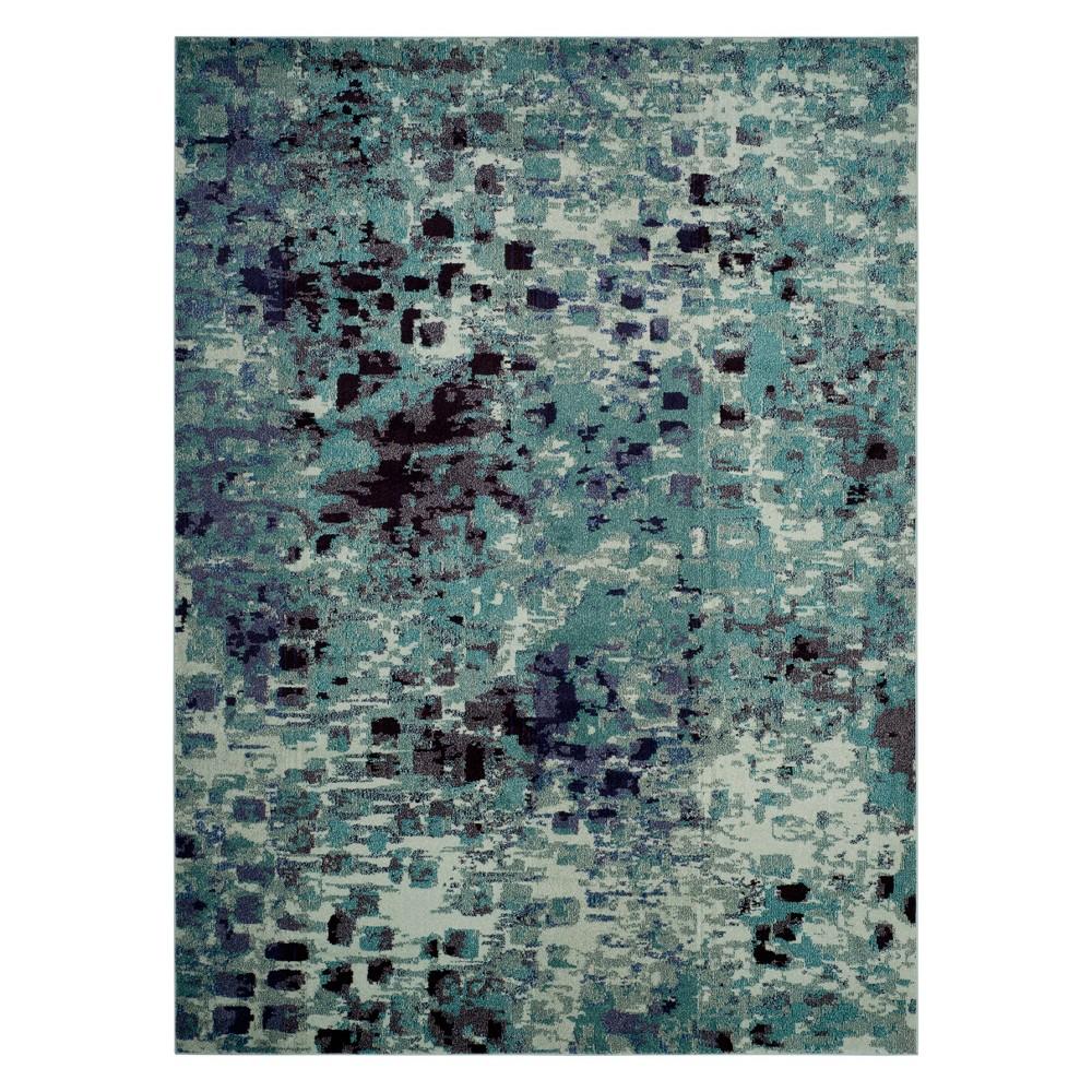 8'X10' Shapes Area Rug Light Blue - Safavieh, Light Blue/Multi-Colored