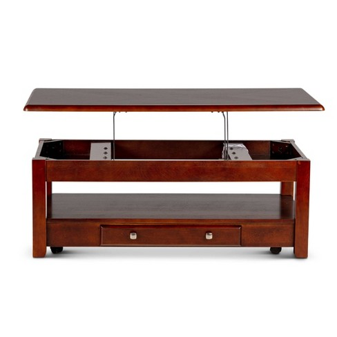 Cherry Coffee Table.Nelson Lift Top Cocktail Table Cherry Steve Silver