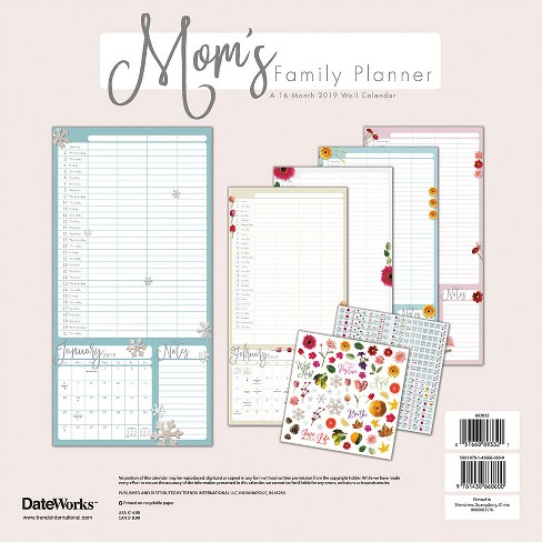 2019 Wall Calendar Mom S Family Planner Trends Target
