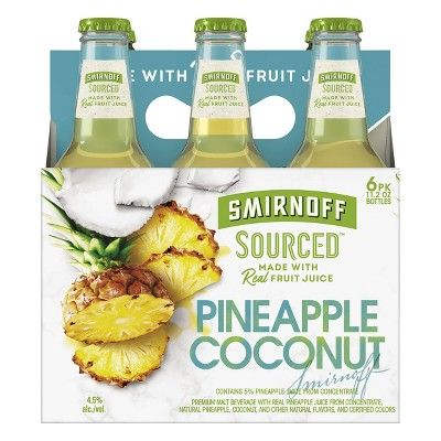 Smirnoff Sourced Pineapple Coconut - 6pk/11.2 fl oz Bottles