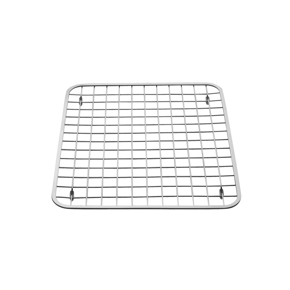Image of InterDesign Gia Stainless Steel Sink Grid with Drain Hole Regular Chrome, Silver