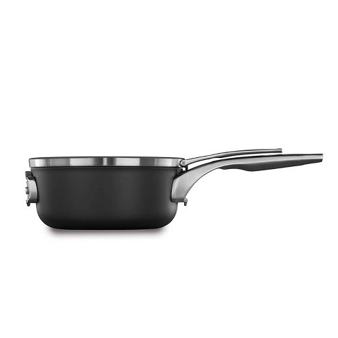 Calphalon Premier 2.5qt Hard Anodized Nonstick Space Saving Sauce Pan With Cover - image 1 of 2