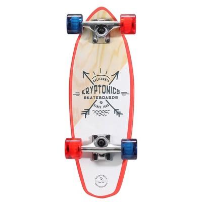 """Kryptonics 23"""" Mini Fat Born Free Cruiser Board - White/Red/Blue"""