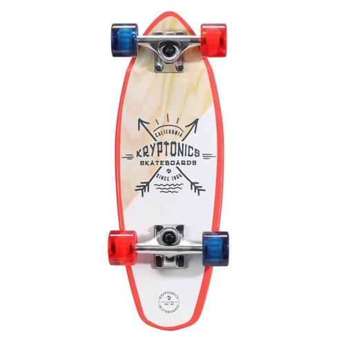 "Kryptonics 23"" Mini Fat Born Free Cruiser Board - White/Red/Blue - image 1 of 3"