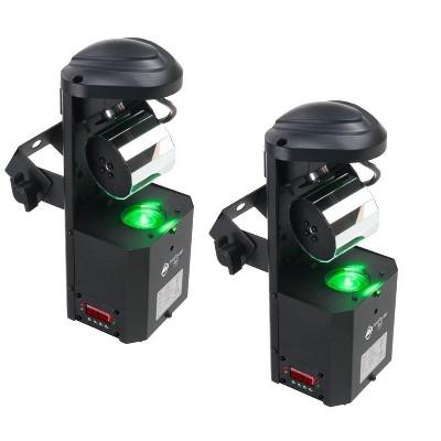 (2) AMERICAN DJ Inno Pocket Roll LED Mini Barrel Mirrored Scannner Effect Lights