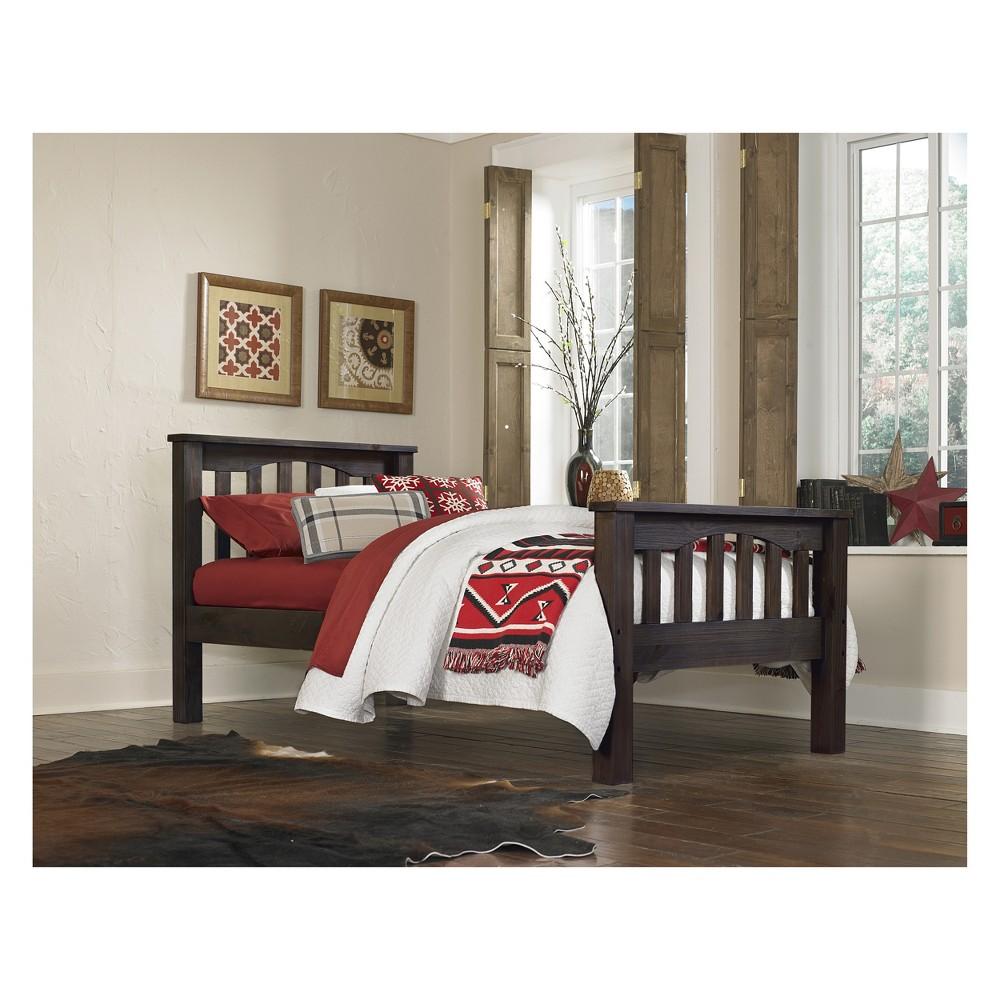 Twin Highlands Harper Panel Bed Espresso (Brown) - Hillsdale Furniture