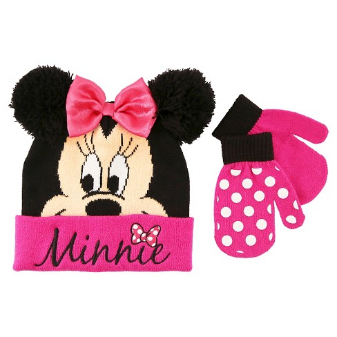 3f8552a0709a2 Toddler Girls  Minnie Mouse Hat - Pink. Shop all Disney