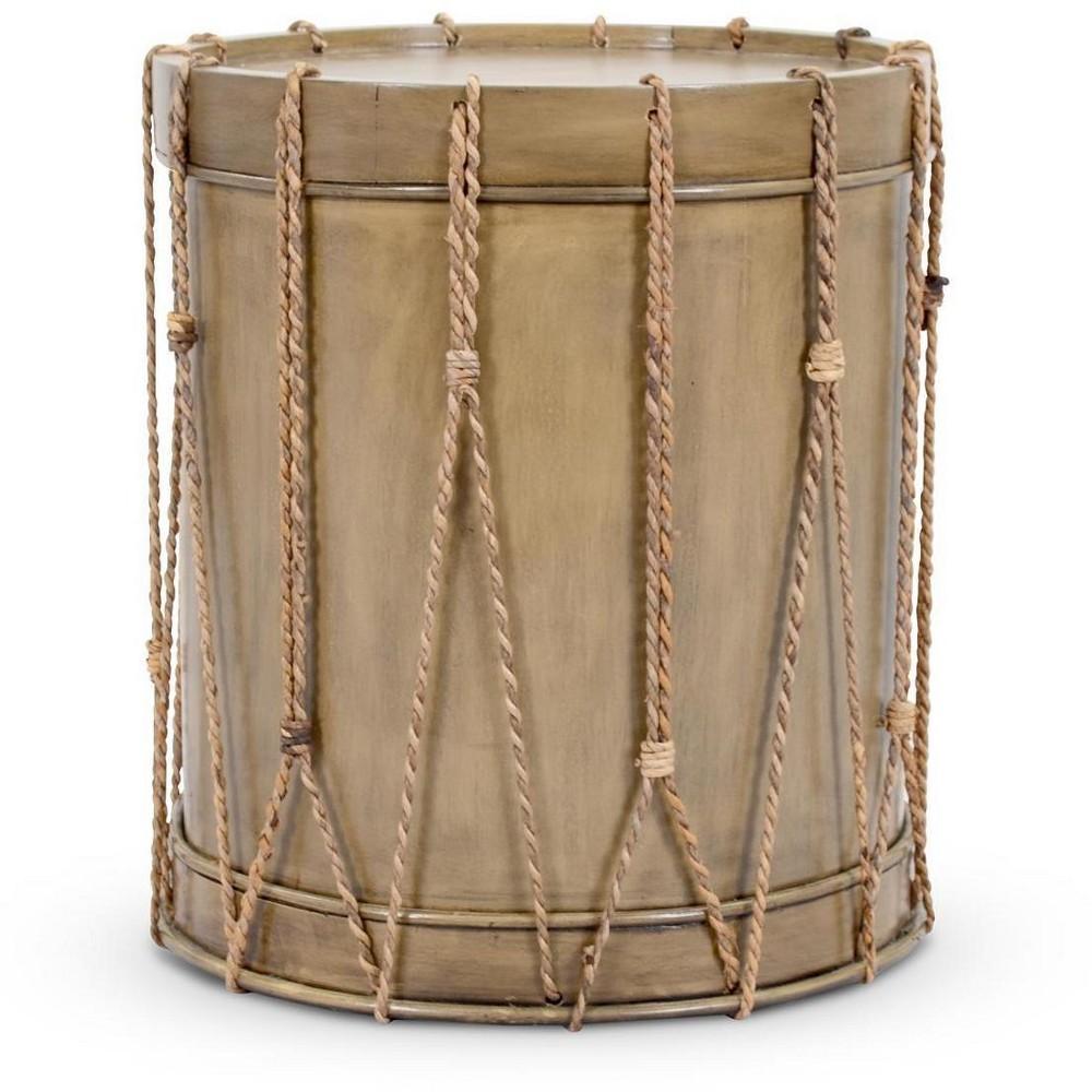 Berea Drum Side Table - Tan - Jeffan