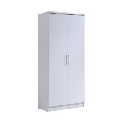 2 Door Armoire with 4 Shelves - Hodedah Import