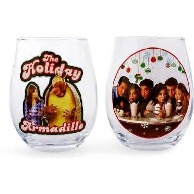 Friends Holiday 20oz Stemless Glass 2-Pack