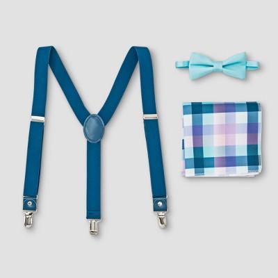Boys' Plaid Suspender, Bowtie & Pocket Square Set - Cat & Jack™