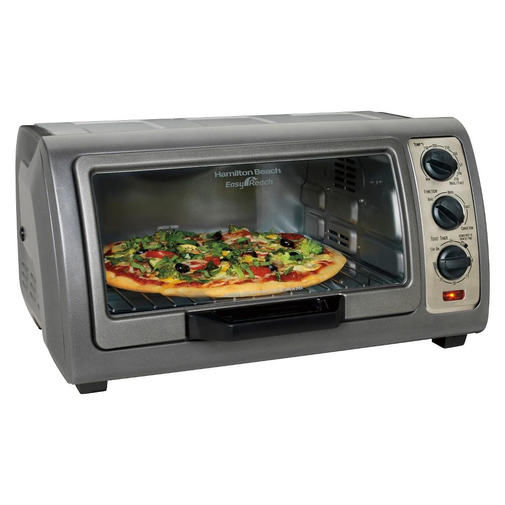 Image of Hamilton Beach 6 Slice Easy Reach Toaster Oven with Convection - Dark Gray 31126