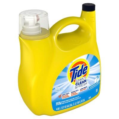 Tide Simply Clean & Fresh Refreshing Breeze Liquid Laundry Detergent - 138 fl oz