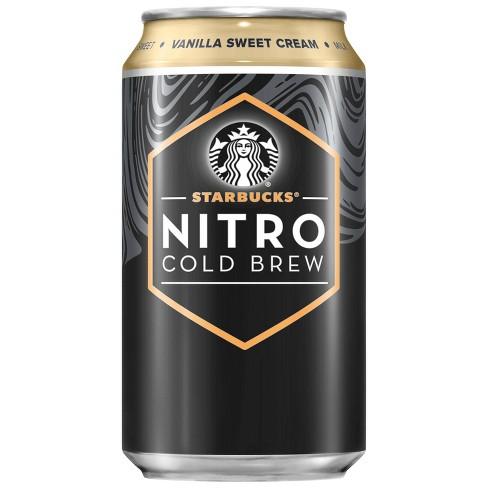 Starbucks Nitro Cold Brew Vanilla Sweet Cream Premium Coffee Drink - 9.6 fl oz Bottle - image 1 of 3