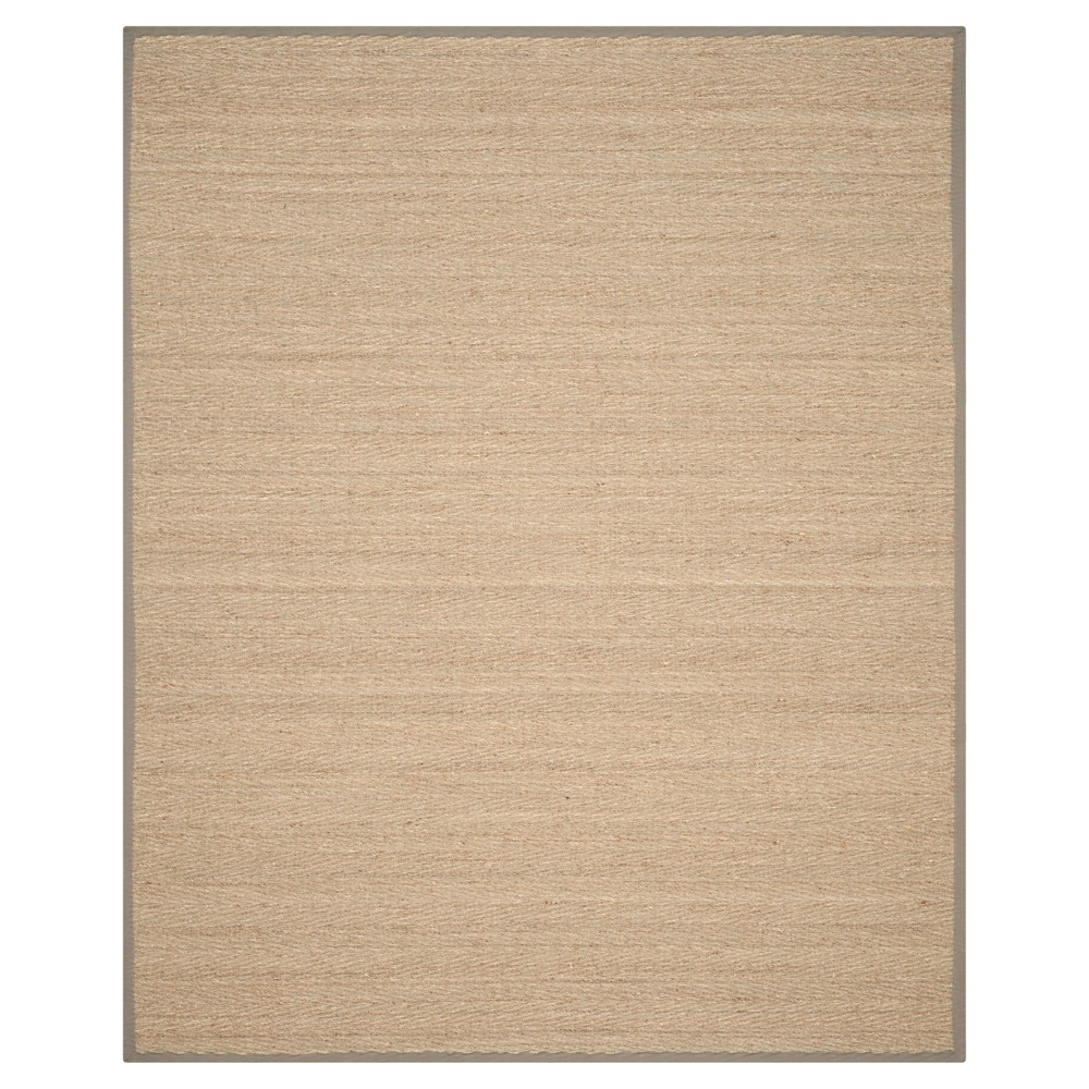 Natural Fiber Rug - Natural/Grey - (8'x10') - Safavieh, Natural/Gray
