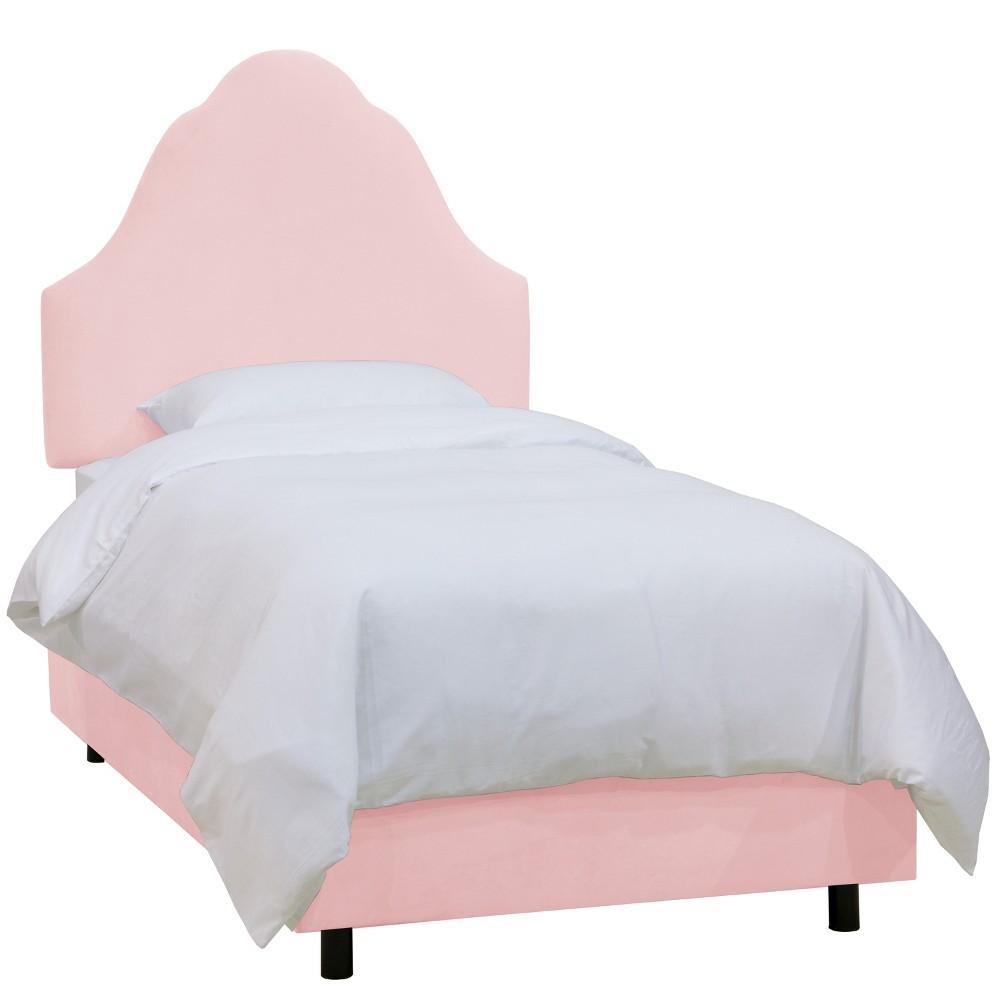 Twin Kids Arched Microfiber Bed Premier Light Pink - Skyline Furniture