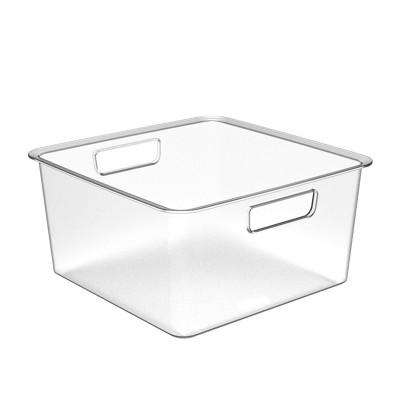 Medium Plastic Bin Clear - Made By Design™