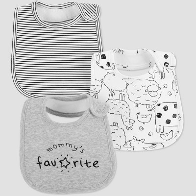 Baby 3pk 'Mommy's Favorite' Bib - Just One You® made by carter's Gray One Size