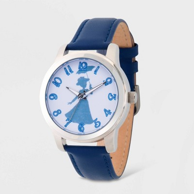 Women's Disney Mary Poppins Leather Strap Watch - Blue