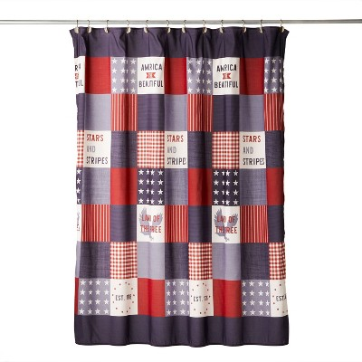 Americana Patchwork Shower Curtain - SKL Home