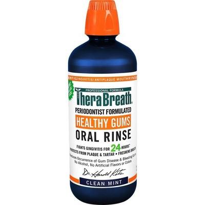 TheraBreath Healthy Gums Rinse - Mint - 33.8 fl oz